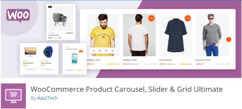 WooCommerce Product Carousel Slider Grid Ultimate