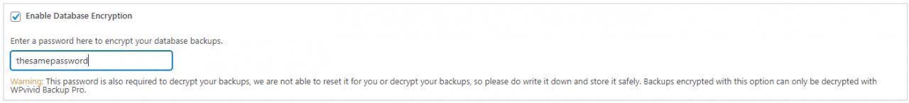 WPvivid Decrypt Database Backups