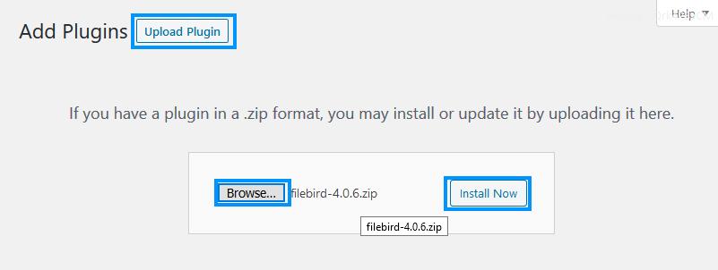 Install FileBird WordPress File Manager