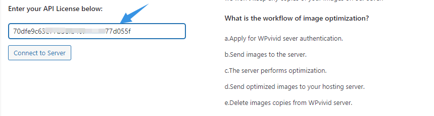Connect to WPvivid Image Optimization Server
